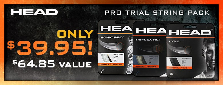 Head Pro Trial String Pack, only $39.95!