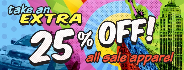 Extra 25% Off All Sale Apparel