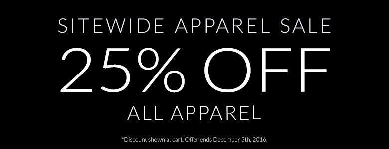 Sitewide Apparel Sale!