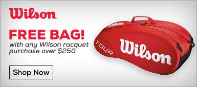 Free Bag with Purchase of Wilson Racquet Over $250