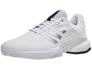 check out 7731e c9fde adidas Barricade 2018 Boost WhiteSilver Mens Shoes