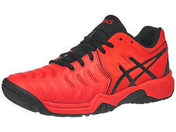 Asics Gel Resolution 7 GS Red Black Junior Shoes 2aba9d81f86