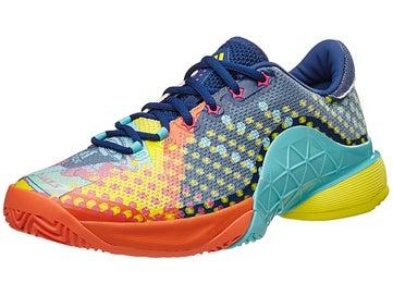 the latest 583f7 73a57 adidas Barricade 17 Pop Art BlueMintYellow Mens Shoe