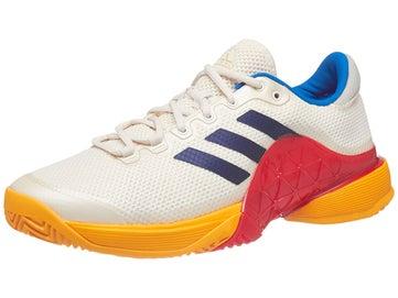 hot sale online affdf 24b21 adidas Barricade 2017 PW ScarletWhiteBlue Mens Shoe
