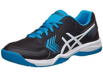 sale retailer 6163d bca4d Asics Gel Dedicate 5 Black Blue White Men s Shoes
