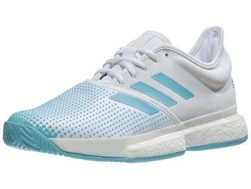 c2ca700c0 adidas SoleCourt Boost Parley White Blue Men s Shoe