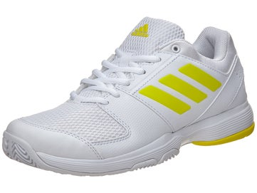 f8818ecc95884 adidas Barricade Court 2 White Yellow Women s Shoes