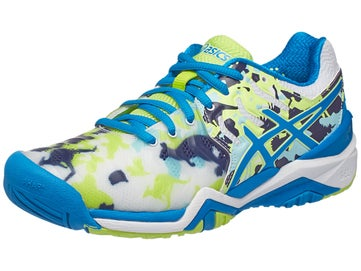 Asics Gel Resolution 7 Melbourne Wh Bl Ye Women s Shoe e763423d9