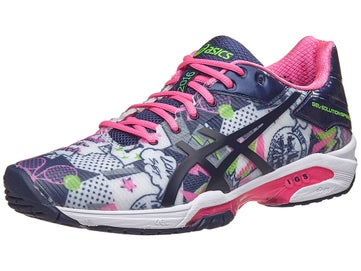 new arrival 59e13 c2f78 Asics Gel Solution Speed 3 NYC Wh Bl Pk Women s Shoes