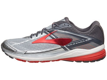 6ea9ae65304 Brooks Ravenna 8 Men s Shoes Silver Anthracite Red